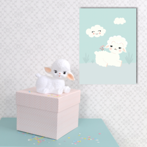 Wooly lamb poster